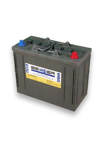 Traction hermetic battery Becker 12V 105 Ah