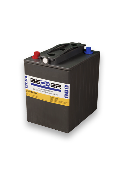 Traction hermetic battery Becker 6V 175Ah